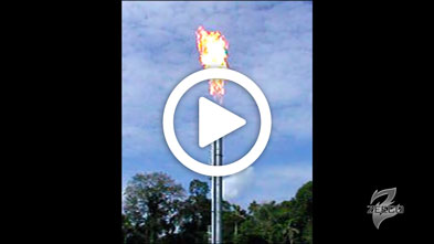 A Smokeless Flare System Firing with Air Assist Media_ZEECO AF Series Tip