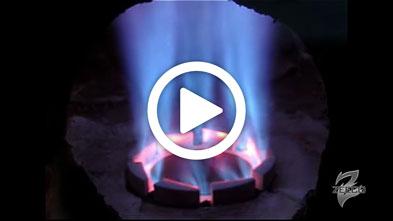 Ultra-Low-NOx Emissions Burner Firing ZEECO GLSF Min-Emissions