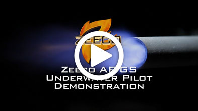 industrial Burner Pilot Underwater Demonstration ZEECO AR GS
