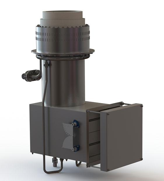 GLSF Free-Jet Round Flame Gas - Standard Plenum - Front