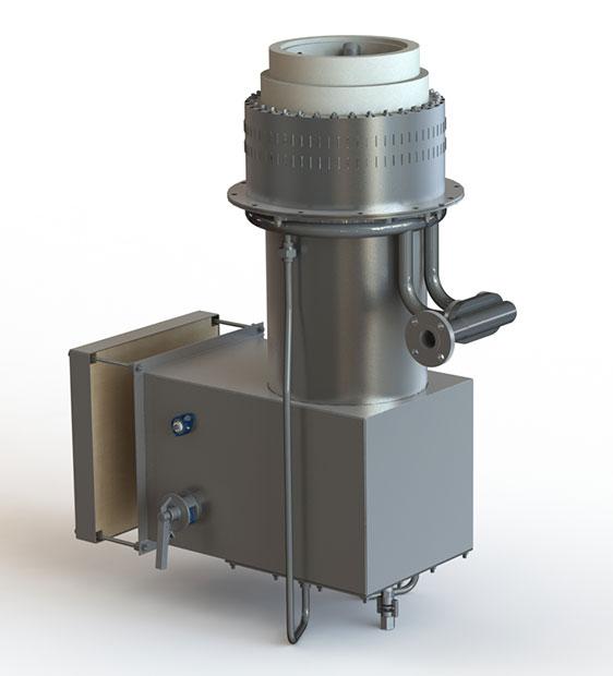 GLSF Free-Jet Round Flame Gas - Standard Plenum - Rear