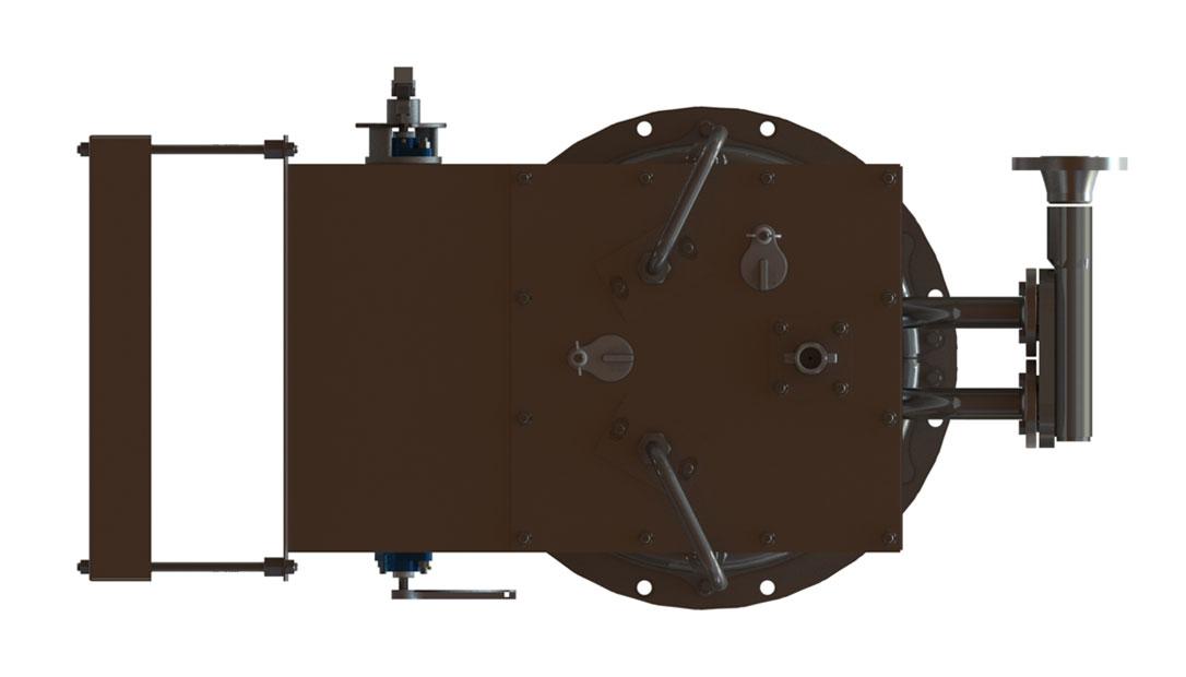 GLSF Free-Jet Round Flame Gas - Standard Plenum - Bottom