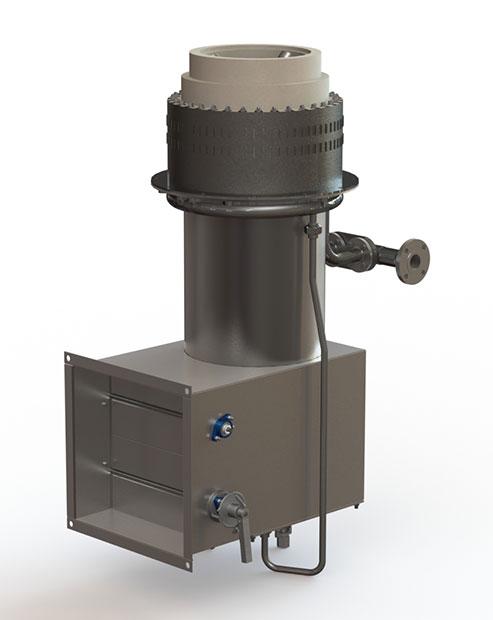 GLSF Free-Jet Round Flame Gas - Standard Plenum - No Muffler - Front