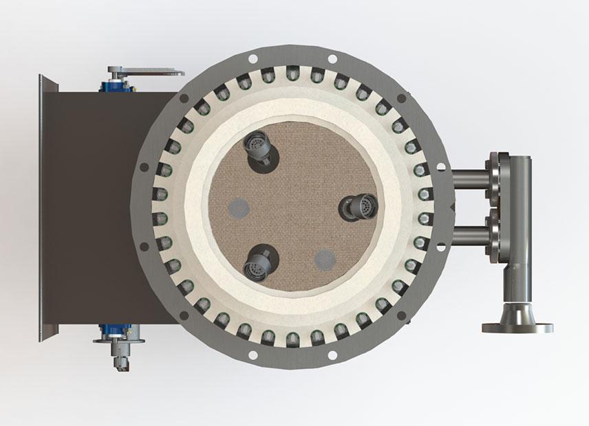 GLSF Free-Jet Round Flame Gas - Standard Plenum - No Muffler - Top