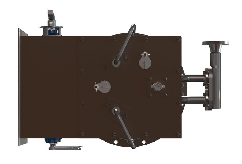 GLSF Free-Jet Round Flame Gas - Standard Plenum - No Muffler - Bottom