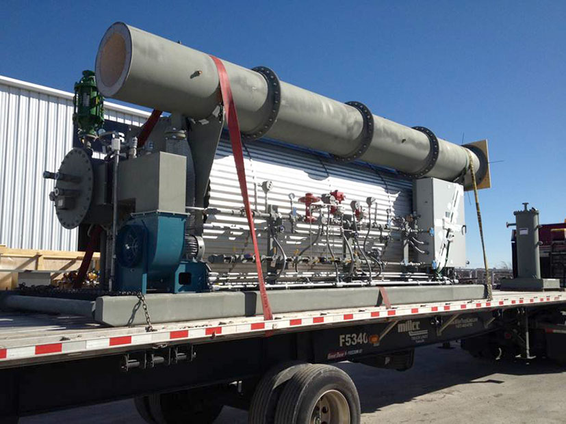 Transport of Horizontal Packaged Thermal Oxidizer