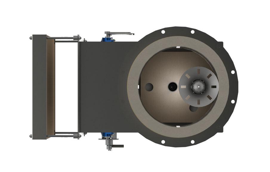 GB Single Jet Round Flame Low Emissions Burner - Top