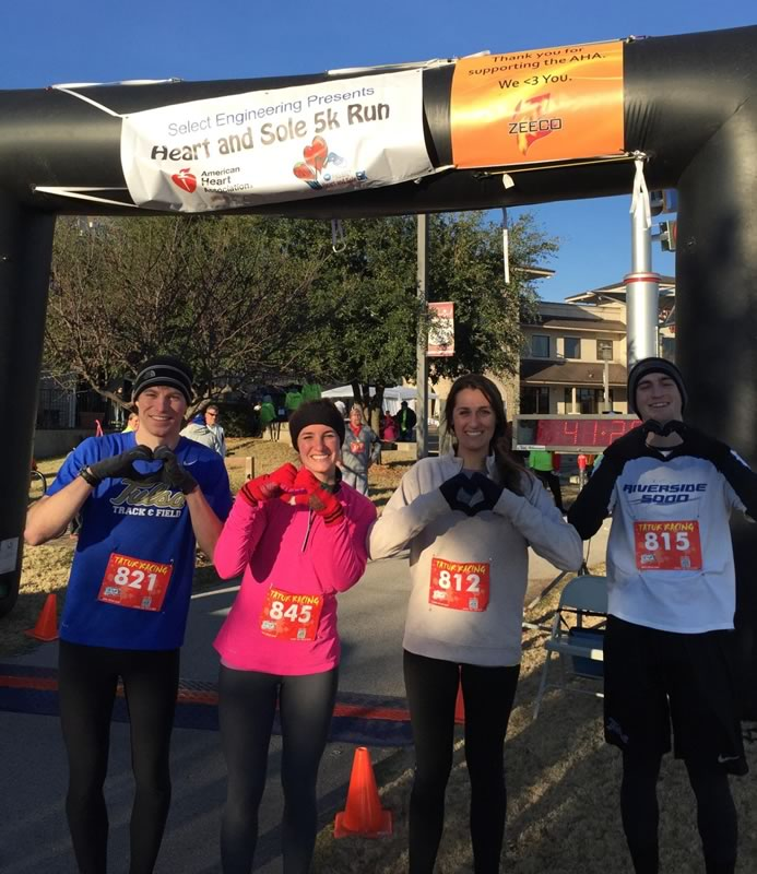 Zeeco sponsored the Heart and Sole 5k benefiting the American Heart Association. Zeeco employees placed 1st, 2nd, 8th, and 9th.