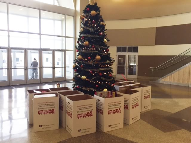 Zeeco employees donated to Toys for Tots by collecting gifts for less fortunate children in the community.