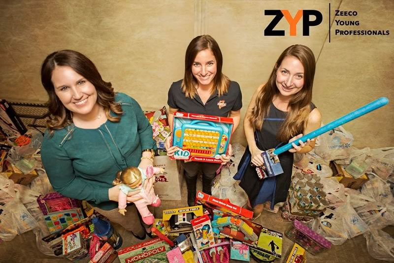 Zeeco Young Professionals organization gifted to the Toys for Tots Foundation and the Angel Tree Program for the holidays.
