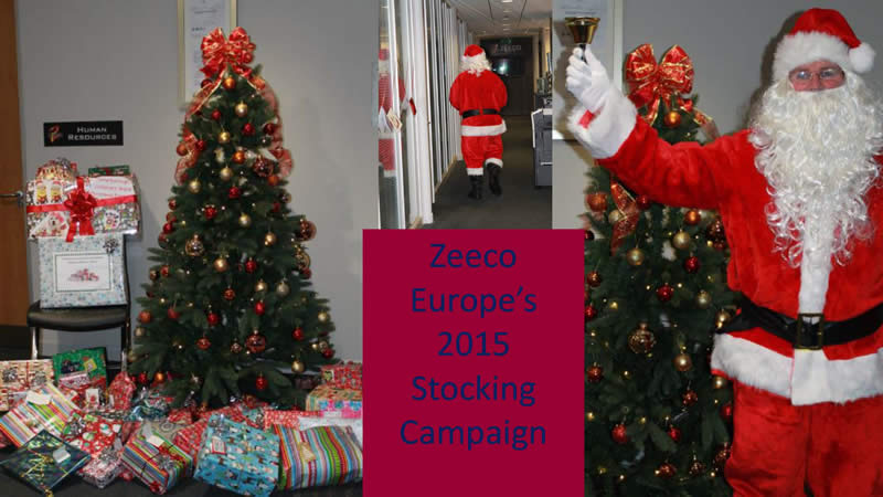 Zeeco employees and Stamford AFC gifted to the Amazon Children's ward at Peterborough hospital.