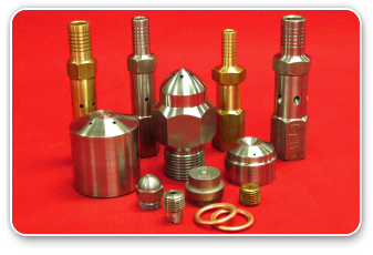 Various Oil Tips, Atomizers, and Gaskets