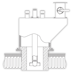 GB Conventional Down-Fired Burner