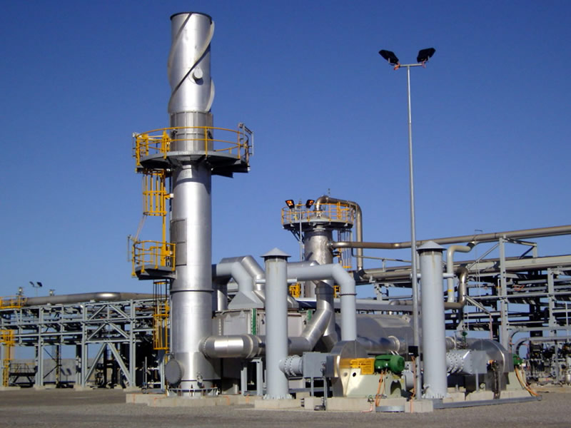 Recuperative Thermal Oxidizer with Combustion Air and Waste Gas Pre-Heaters