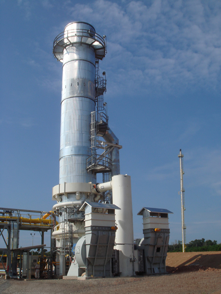 Incinerator with Extractive Waste Heat Recovery System